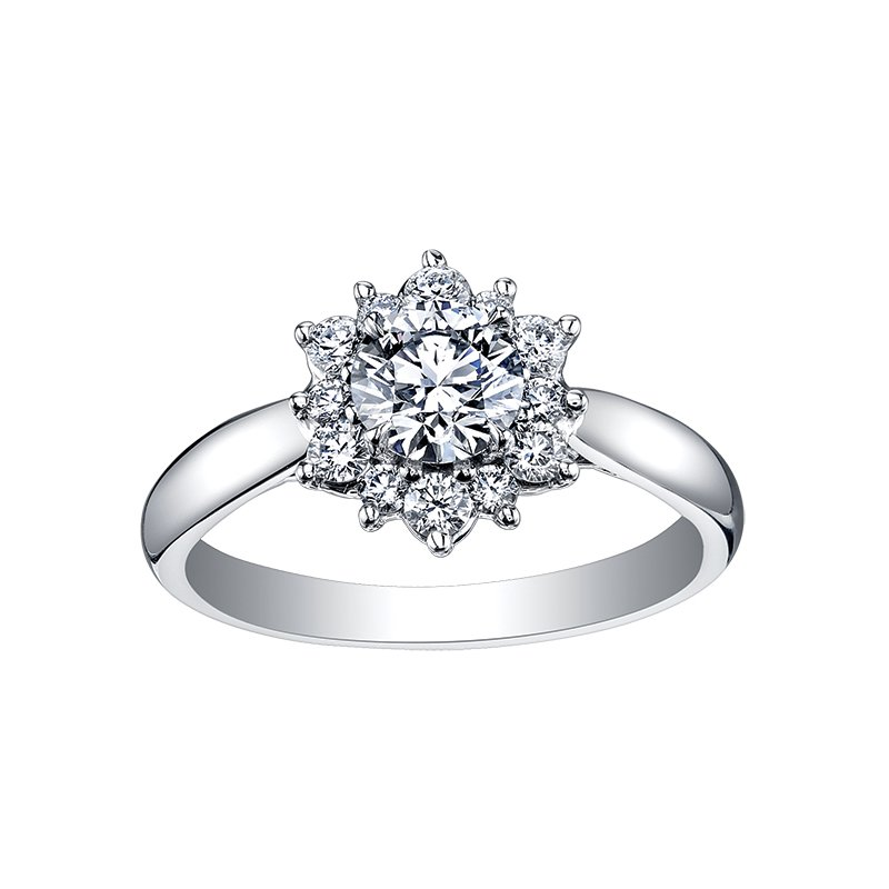 Maple Leaf Diamonds Maple Leaf Diamond Tides of Love Ladies Engagement Ring