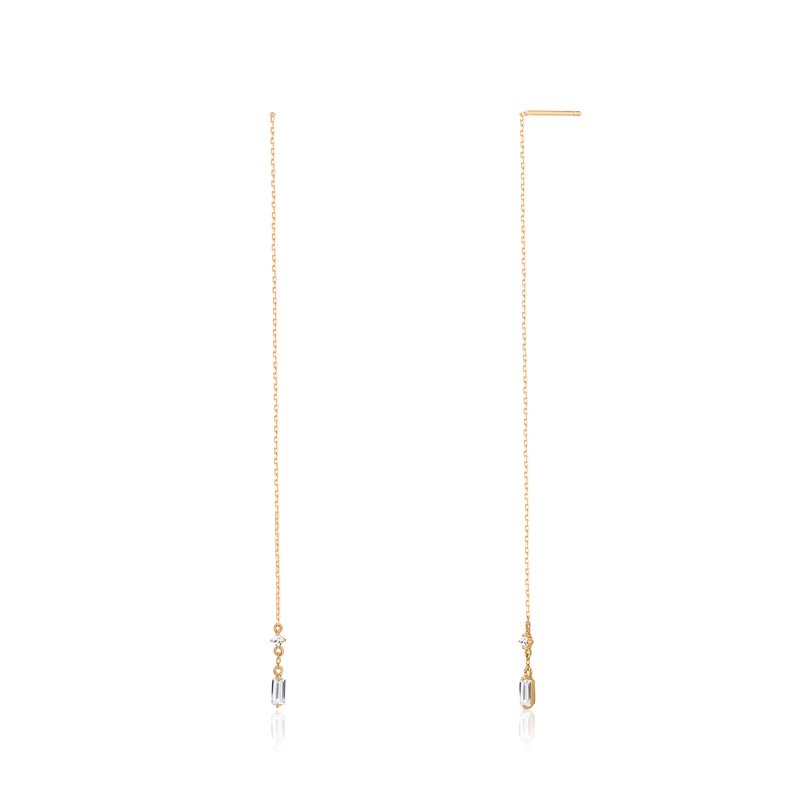 Aurelie Gi CAMILA | Topaz Threader Earrings