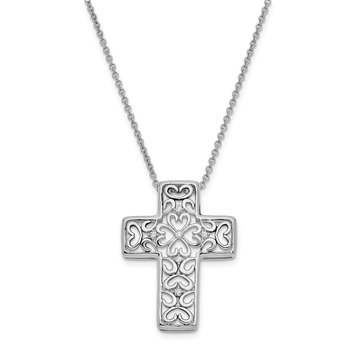 Sterling Silver CZ Unwavering Love 18in. Necklace
