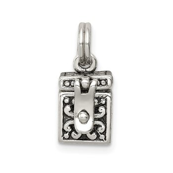 Sterling Silver Angel Prayer Box Charm