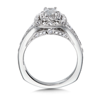 Valina Diamond Halo Engagement Ring Mounting in 14K White Gold (0.5 ct. tw.)