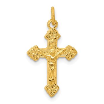 Sterling Silver & 24k Gold -plated INRI Crucifix Charm