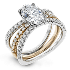 Simon G LR1083-OV WEDDING SET
