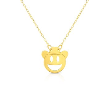 14K Gold Cowboy Roymoji Necklace