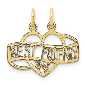 10K BEST FRIEND 2 Piece Break-A-Part Charm