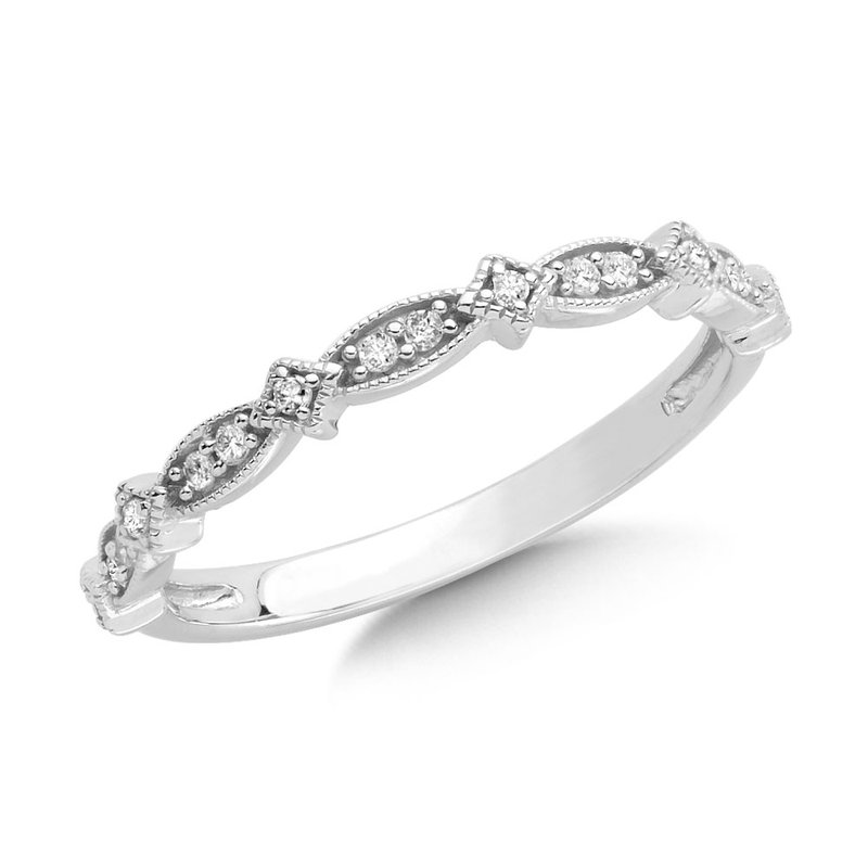 SDC Creations Channel set Diamond Hoops in 14k White Gold (1/4 ct. tw.) HI/SI2-SI3