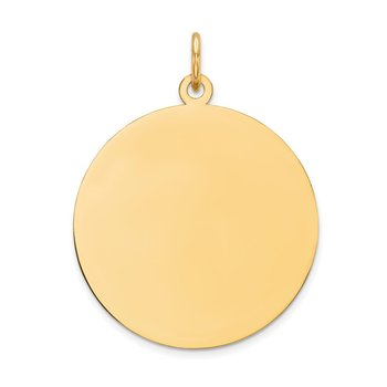 14k Plain .011 Gauge Circular Engravable Disc Charm