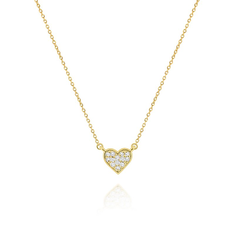 KC Designs 14K Pave Diamond Heart Necklace