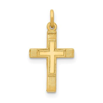 14k Small Cross Charm