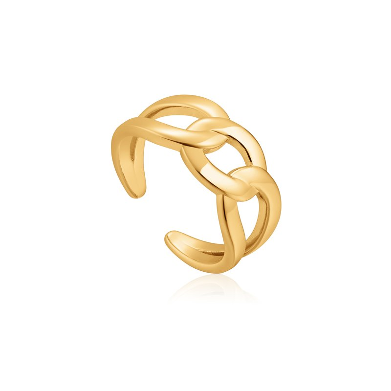 Ania Haie Wide Curb Chain Adjustable Ring