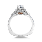 Valina Halo Engagement Ring Mounting in 14K White/Rose Gold (.29 ct. tw.)