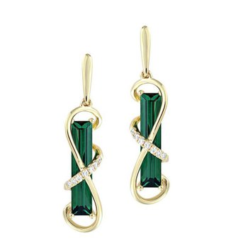 Emerald Earrings-CE4387YEM