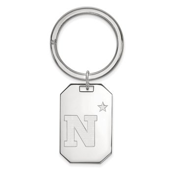 Sterling Silver United States Naval Academy NCAA Key Chain
