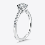 Valina Solitaire Engagement Ring with Side Stones in 14K White Gold (0.22 ct. tw.)