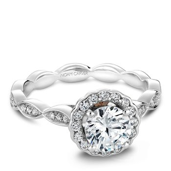 Noam Carver Vintage Engagement Ring B085-01A
