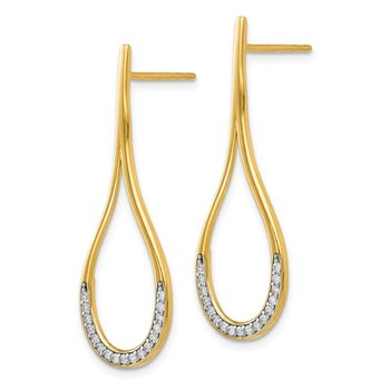Leslie's 14K CZ Post Dangle Earrings