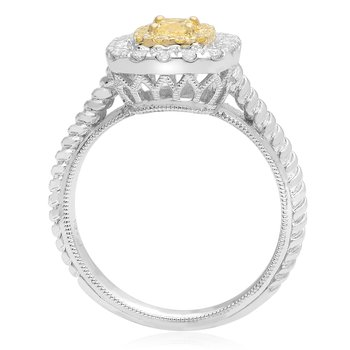 Cushion Cut Braided Diamond Ring