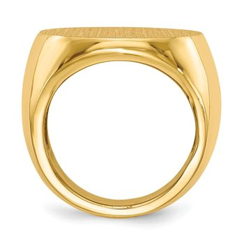 14k 21.0x21.5mm Open Back Mens Signet Ring