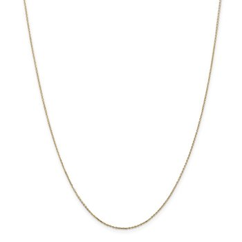 14k .8mm D/C Cable with Lobster Clasp Chain