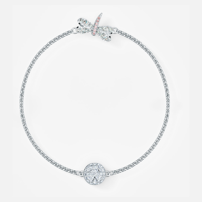 Swarovski Swarovski Remix Collection Dragonfly Strand, White, Rhodium plated