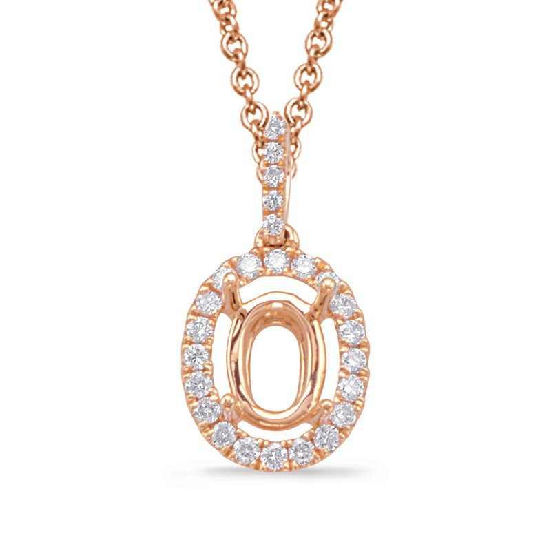 Briana Diamond Pendant For 9x7mm oval Center