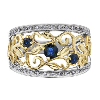 Sapphire Ladies Three Stone Ring