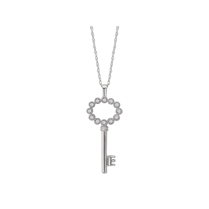 Tesoro Diamond Key Necklace