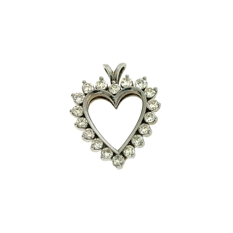 S. Kashi  & Sons White Gold Diamond Heart