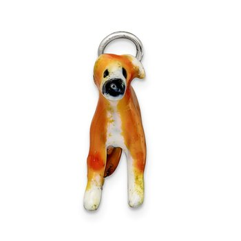 Sterling Silver Enameled Whippet Charm