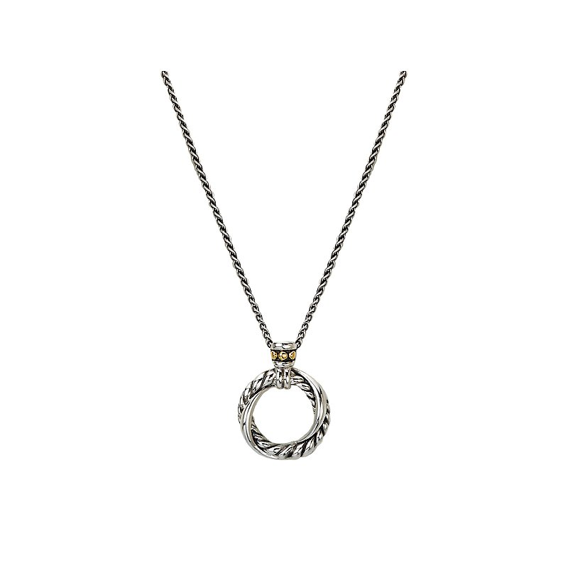 Eleganza Ladies Fashion Two-Tone Pendant