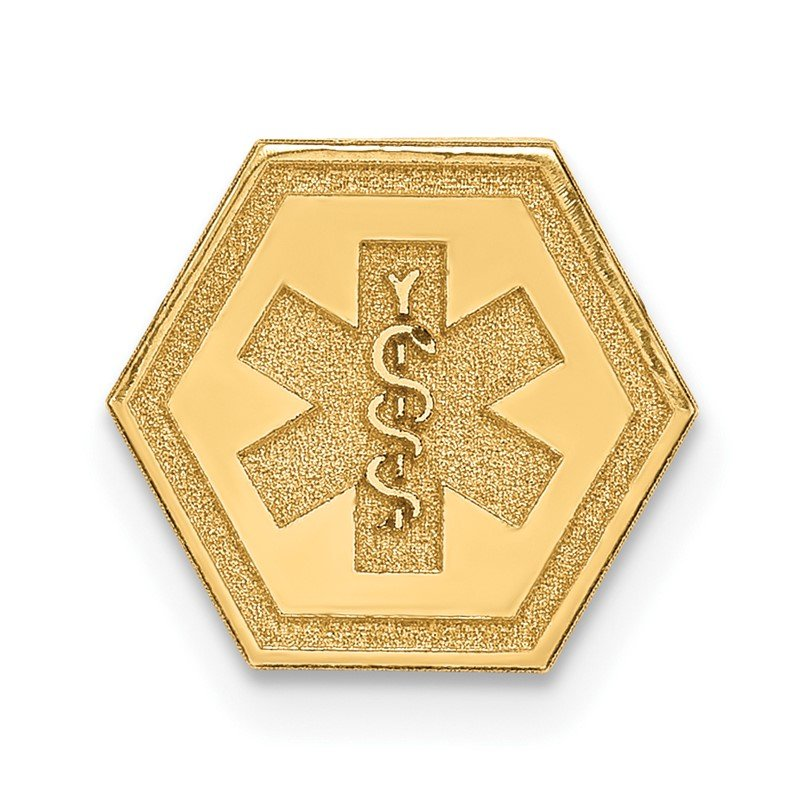 Quality Gold 14k Non-enameled Attachable Medical Emblem Charm