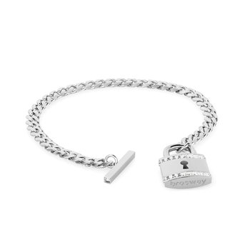 316L stainless steel with padlock pendant and Swarovski® Elements crystals.