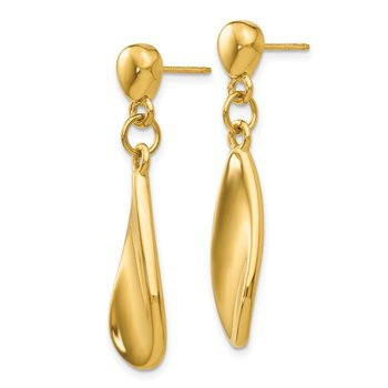 14k Tear Drop Dangle Post Earrings