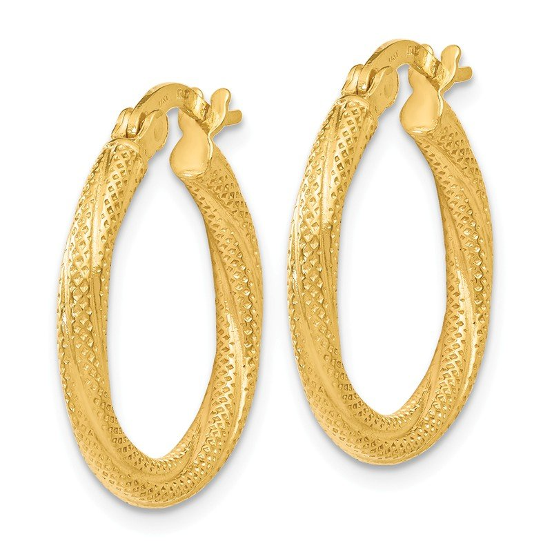 Leslie's Leslie's 14K Textured Hoop Earrings