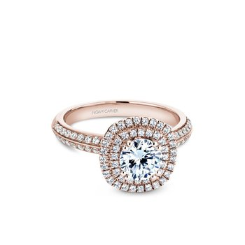 Cushion Shaped Double Halo Engagement Ring