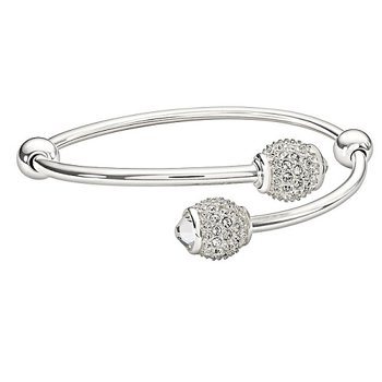 Flex Bangle with Crystal Pave Bangle Accents
