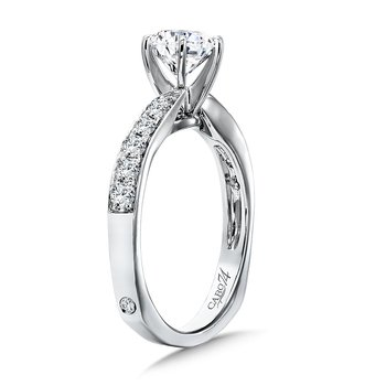 Classic Elegance Collection Criss Cross Diamond Engagement Ring in 14K White Gold with Platinum Head (1ct. tw.)