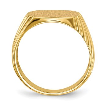 14k 13.5x13.5 Open Back Men's Signet Ring