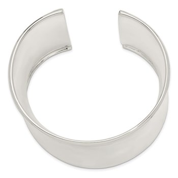 Sterling Silver 50mm Cuff Bangle Bracelet
