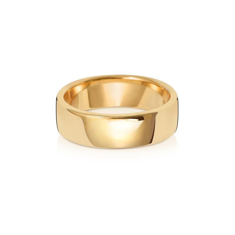 Treasure 9Ct Yellow Gold 6mm Soft Court Wedding Ring