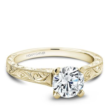 Noam Carver Vintage Engagement Ring B006-03YEA