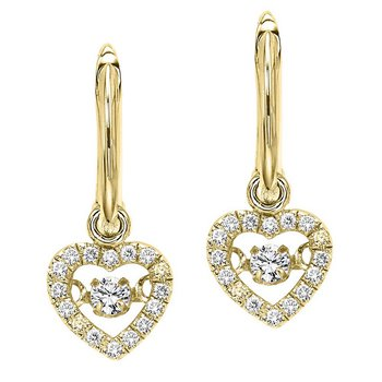 10K Diamond Rhythm Of Love Earring 1/5 ctw