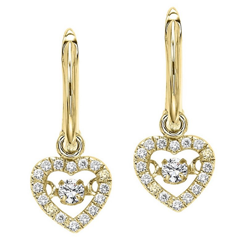 Necker's Signature Collection 10K Diamond Rhythm Of Love Earring 1/5 ctw