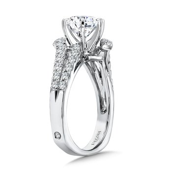 Six-Prong Bypass Split Shank Diamond Engagement Ring