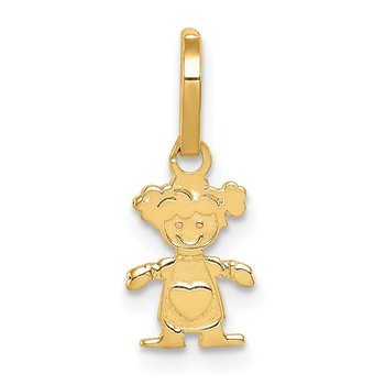 14k Polished Little Girl Pendant