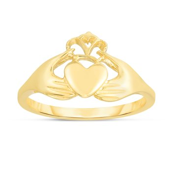 14K Gold Claddaugh Ring