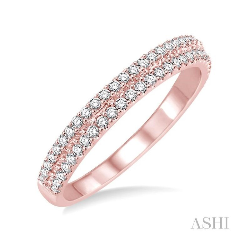 ASHI two row diamond wedding band