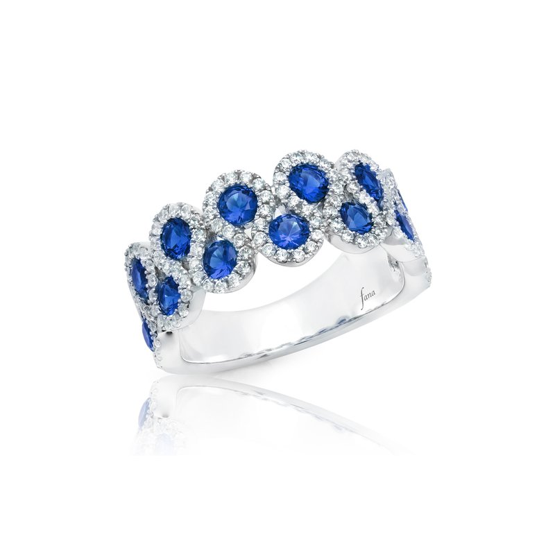 Fana Melody of the Heart Sapphire and Diamond Wave Ring