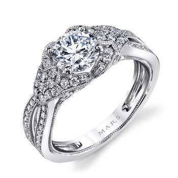 MARS 26022 Diamond Engagement Ring, 0.67 Ctw.