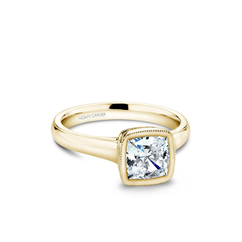 Noam Carver Bezel Set Princess Cut Solitaire Engagement Ring